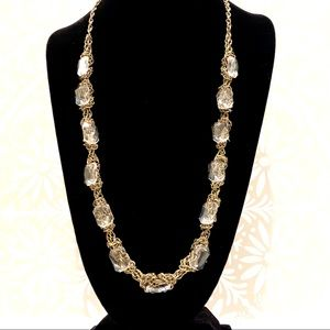 J CREW chunky crystal knotted necklace NWT $78